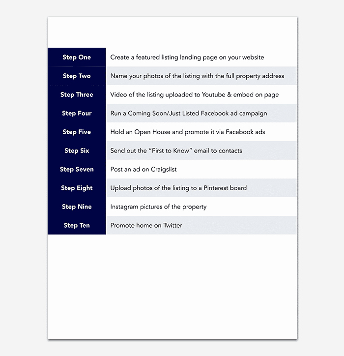 Social Media Marketing Plan Template for Word Pdf