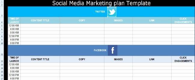 Social Media Marketing Plan Template Free
