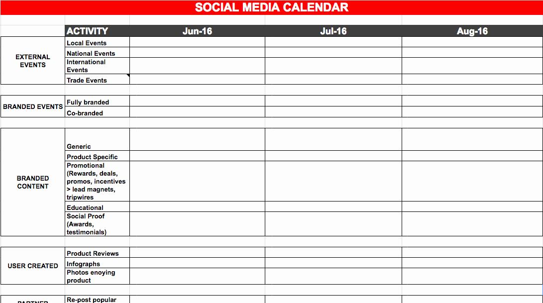 Social Media Plan Templates