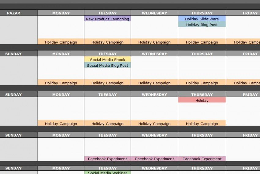 Social Media Posting Schedule Template 28 Images