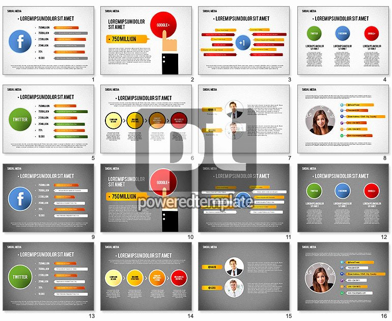 Social Media Presentation Template for Powerpoint