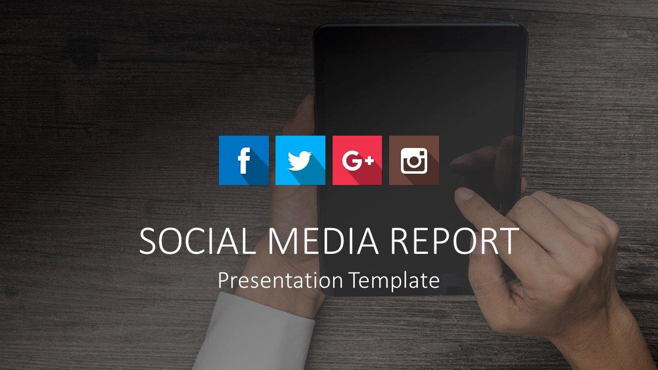 Social Media Report Powerpoint Templates Slidemodel