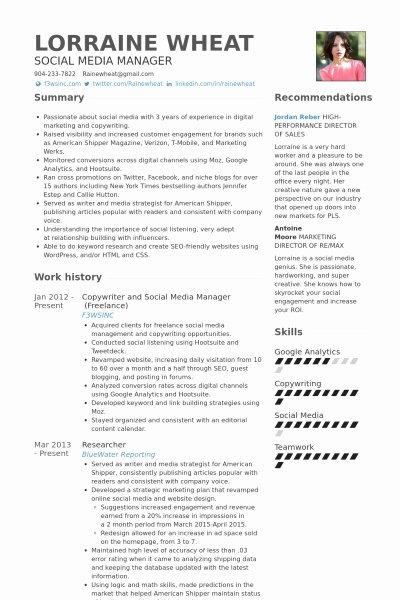 Social Media Resume Template Invitation Template
