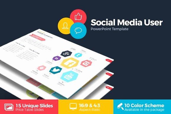 Social Media User Powerpoint Presentation Templates On
