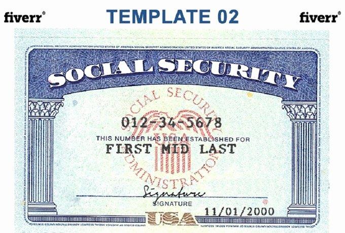 Social Security Card Template Beepmunk
