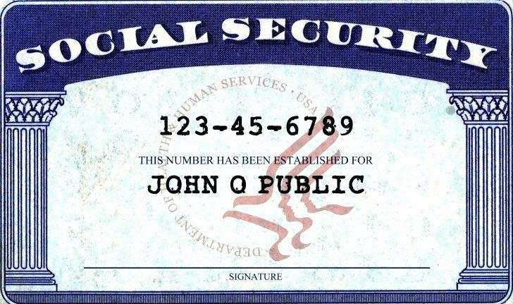 Social Security Card Template Shop Back Fake