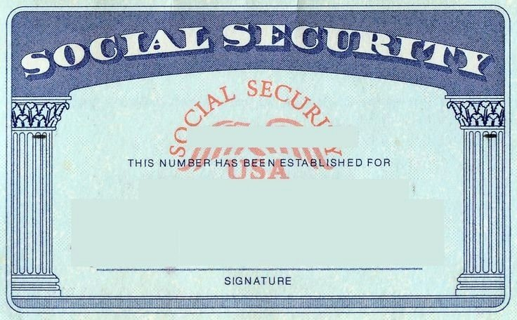 Social Security Card Template Shop