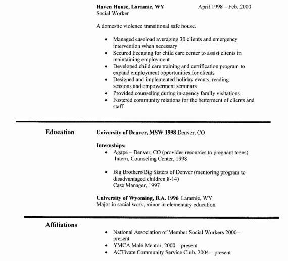 Social Work Resume Skills