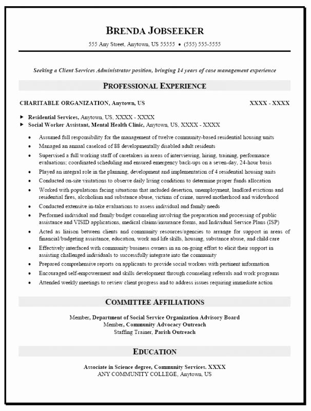 Social Worker Resume Samples Free
