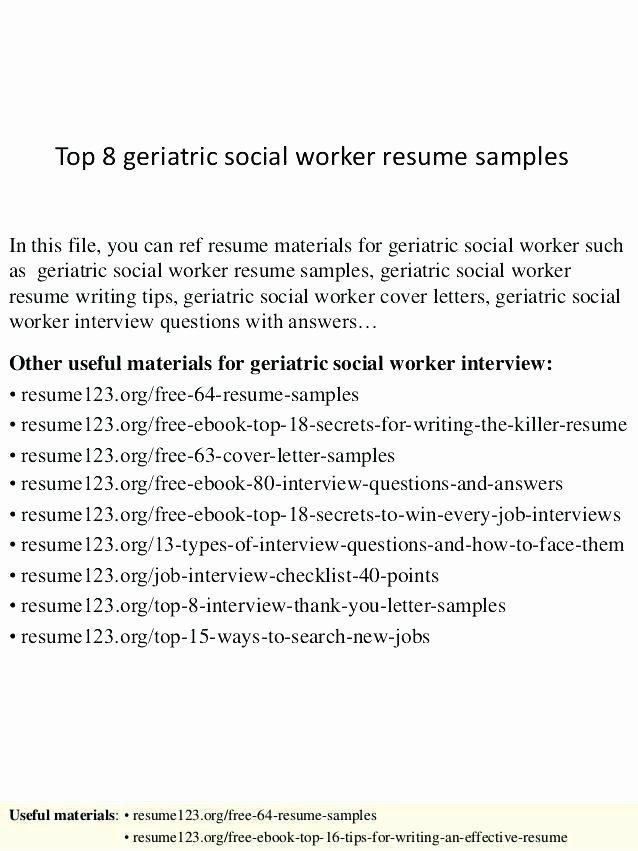 Social Worker Sample Resume Sample social Work Cover