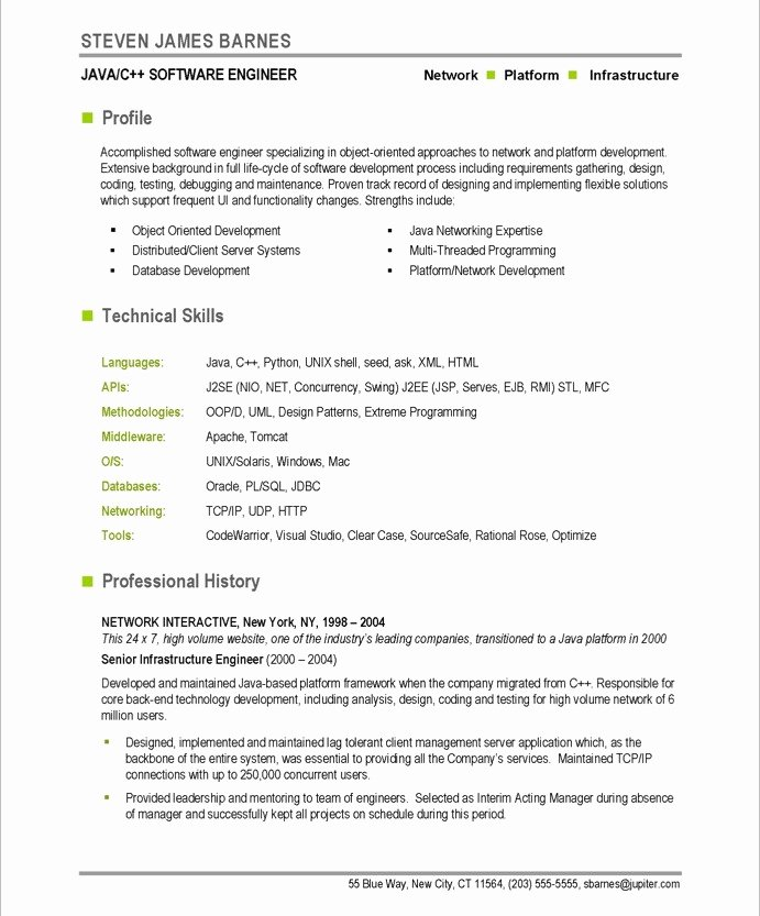 Software Developer Free Resume Samples