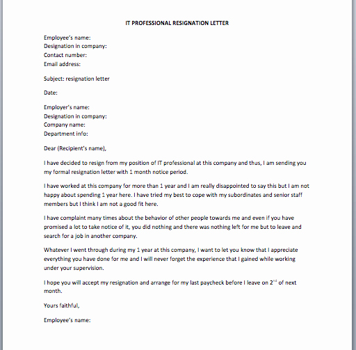Software Developer Resignation Letter Smart Letters