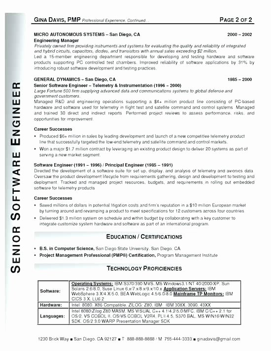 Software Engineer Resume Templates software Engineer