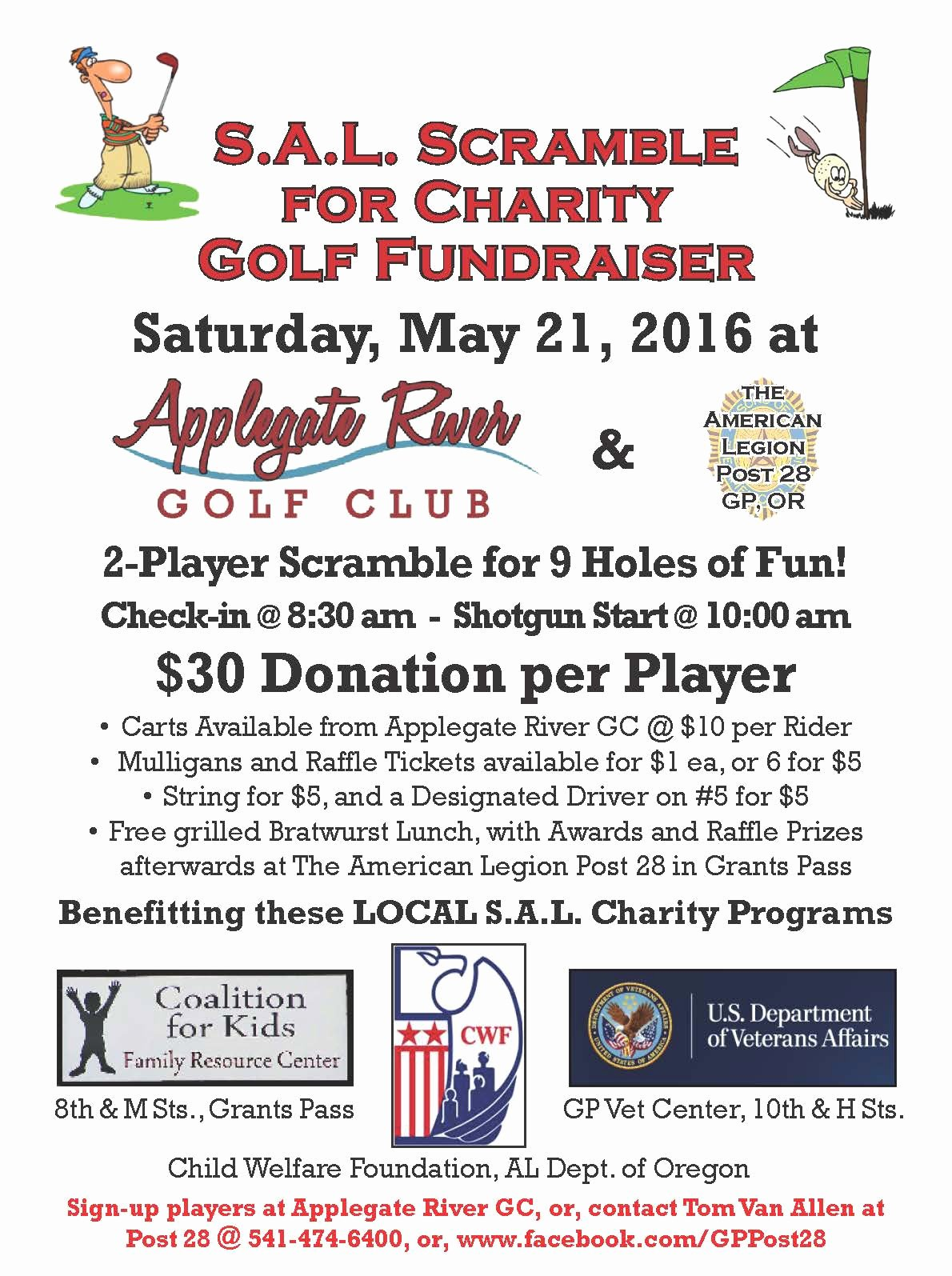 Sons Of American Legion Scramble for Charity Applegate