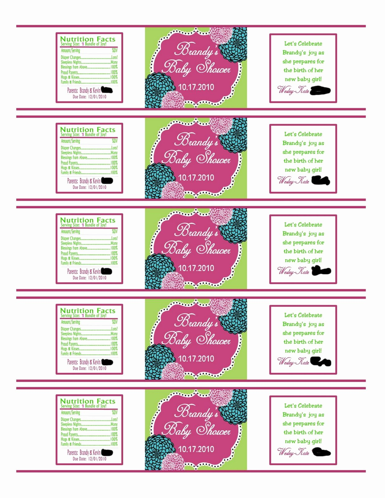Southern Inspirations How to Make Water Bottle Labels