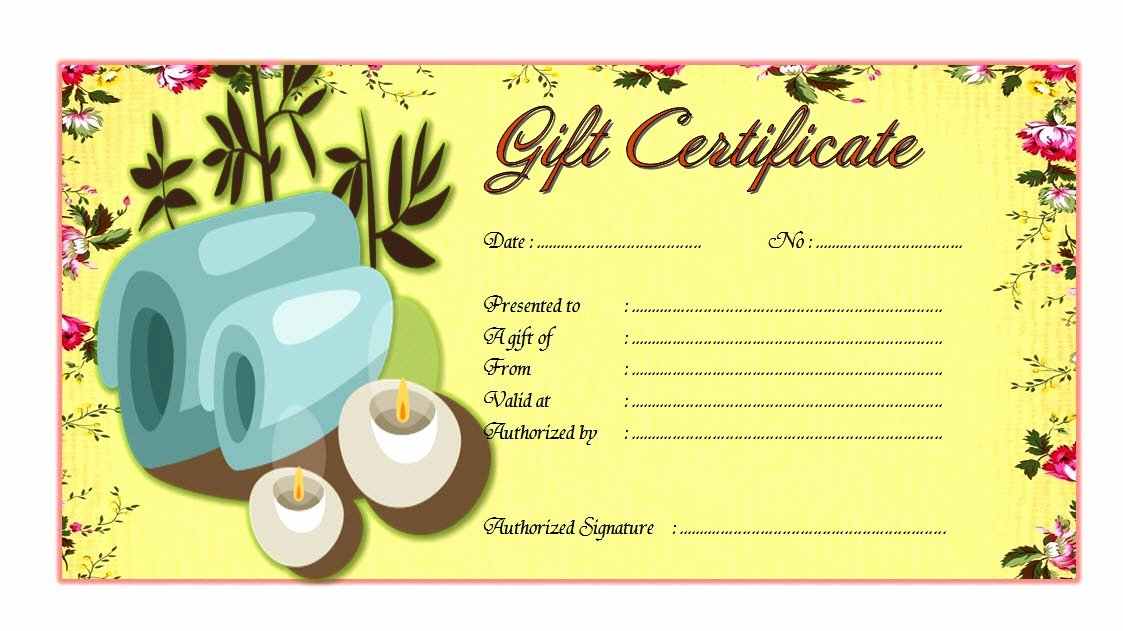 Spa Gift Certificate Template 3 – the Best Template Collection