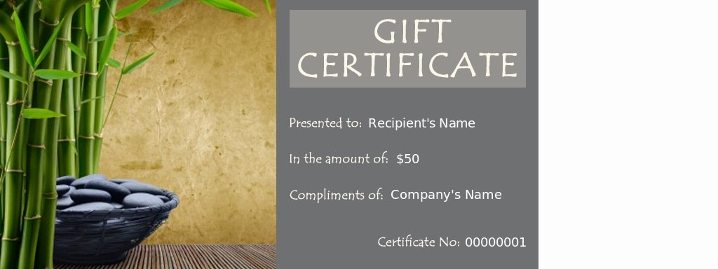 Spa Gift Certificates Massage therapy Certificate Template