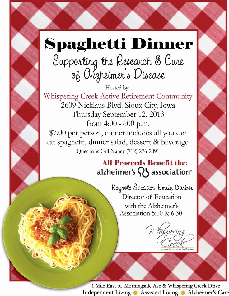 Spaghetti Fundraising Dinner Names Google Search