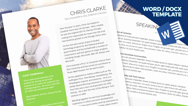Speaker E Sheet Template Instant Download Ms Word