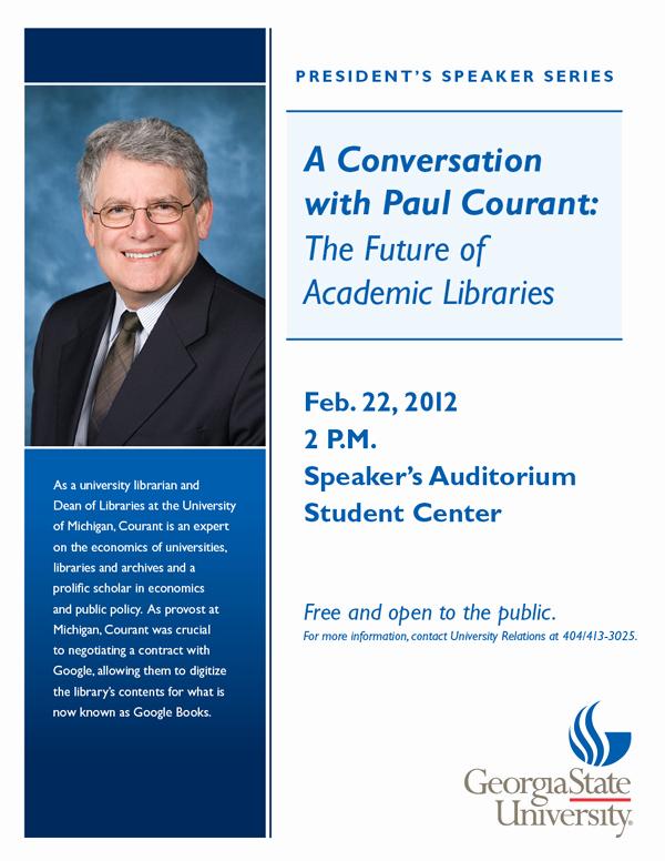 Speaker Flyer College Paul Courant Flyer