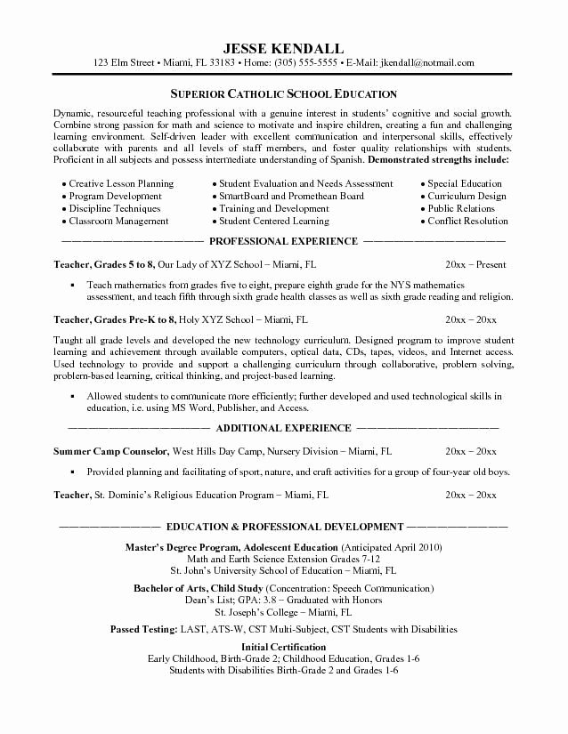 Special Needs Teacher Resume Best Resume Collection