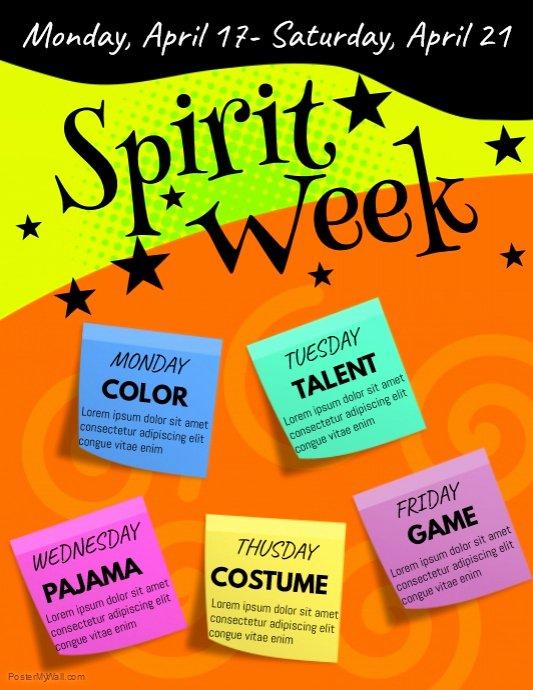 Spirit Week Flyer Template