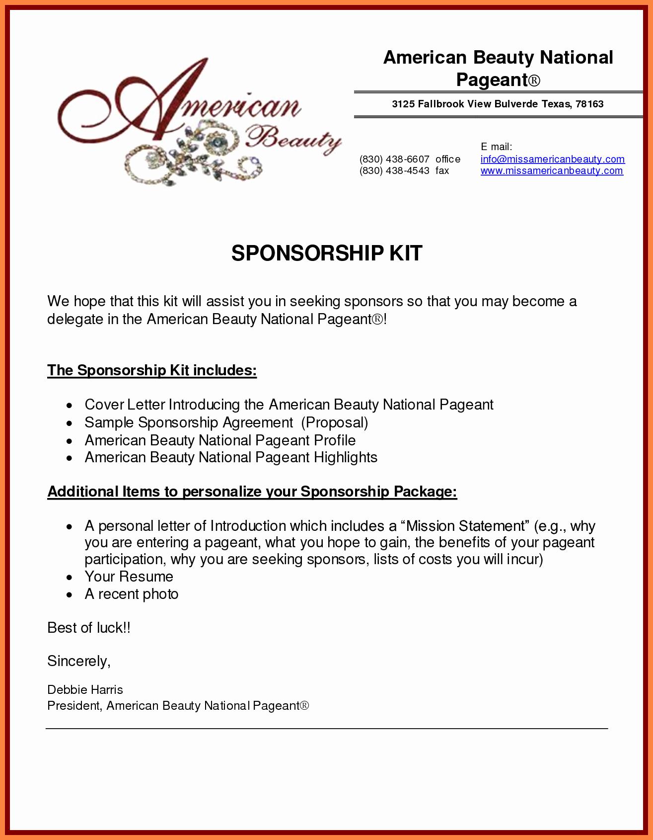 Sponsorship Packages Templates Portablegasgrillweber