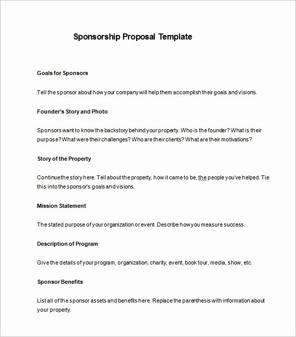 Sponsorship Proposal Template – 10 Free Sample Example