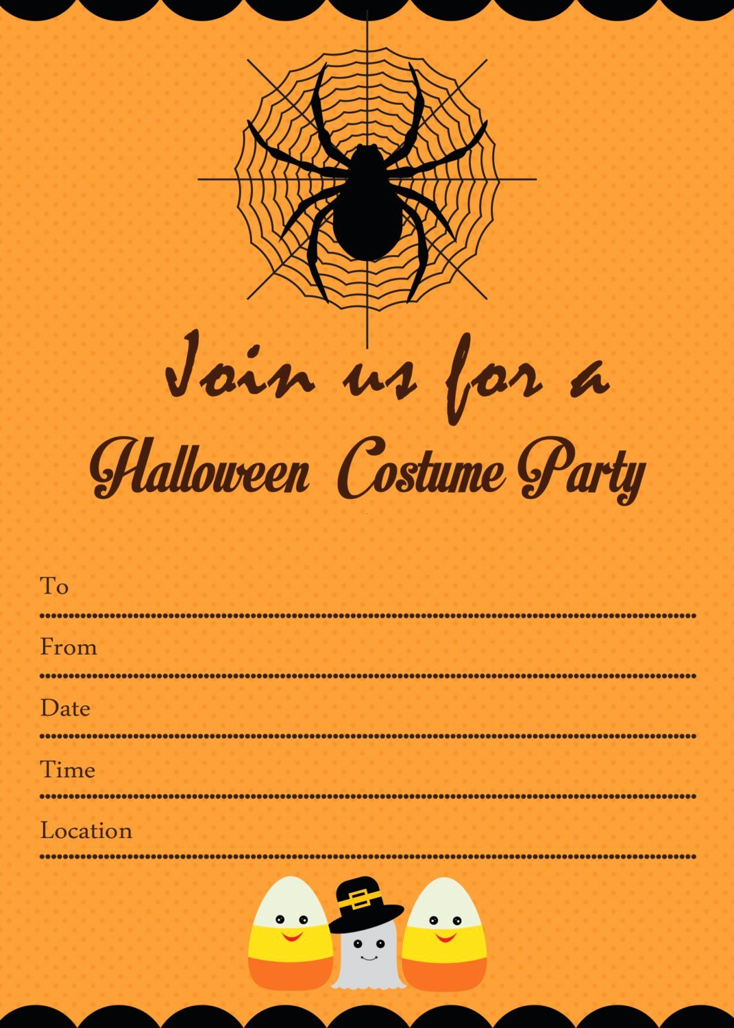 Spooky Halloween Costume Party Invitation by Candybeedesigns