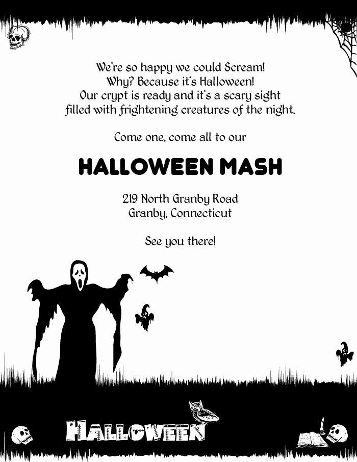 Spooky Halloween Invitation Templates