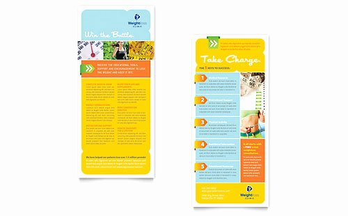 Sports & Fitness Rack Card Templates Word & Publisher