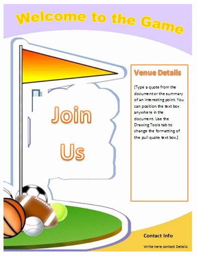 Sports Flyer Template Microsoft Word Templates