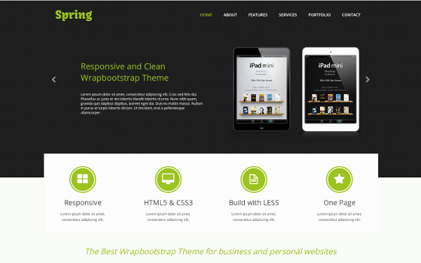 Spring E Page Responsive Template