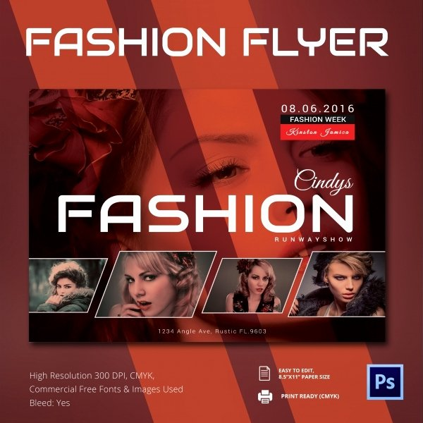 Spring Fashion Show Flyer Templates Free