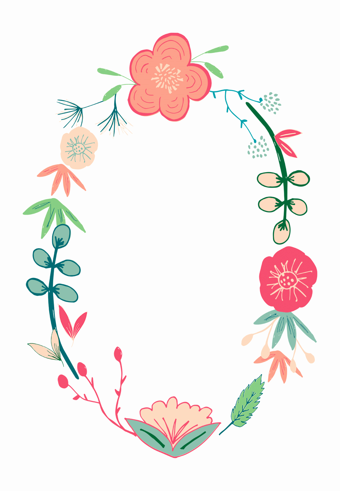 Spring Flowers Free Printable Birthday Invitation