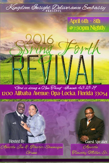 Spring forth Revival Flyer Template