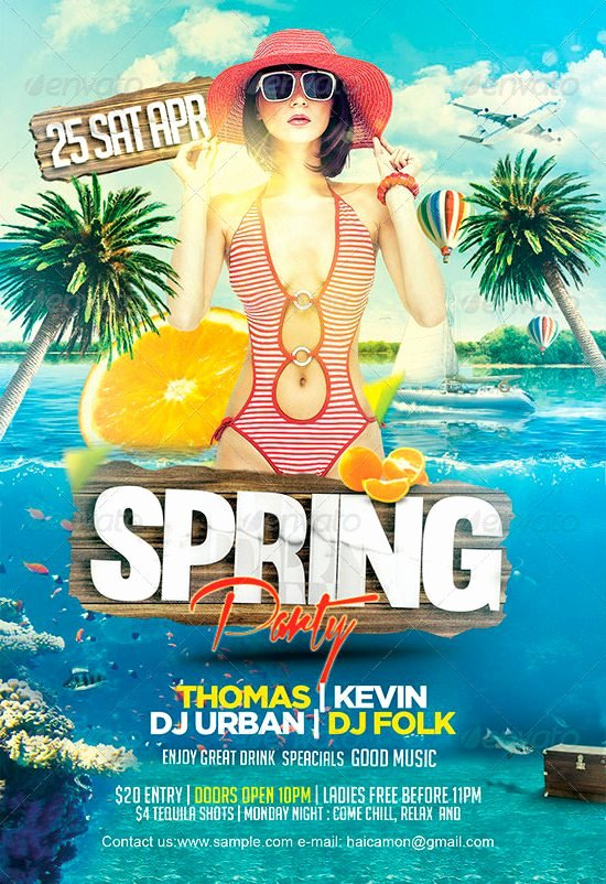 Spring Party Flyer Template Download Best Spring and