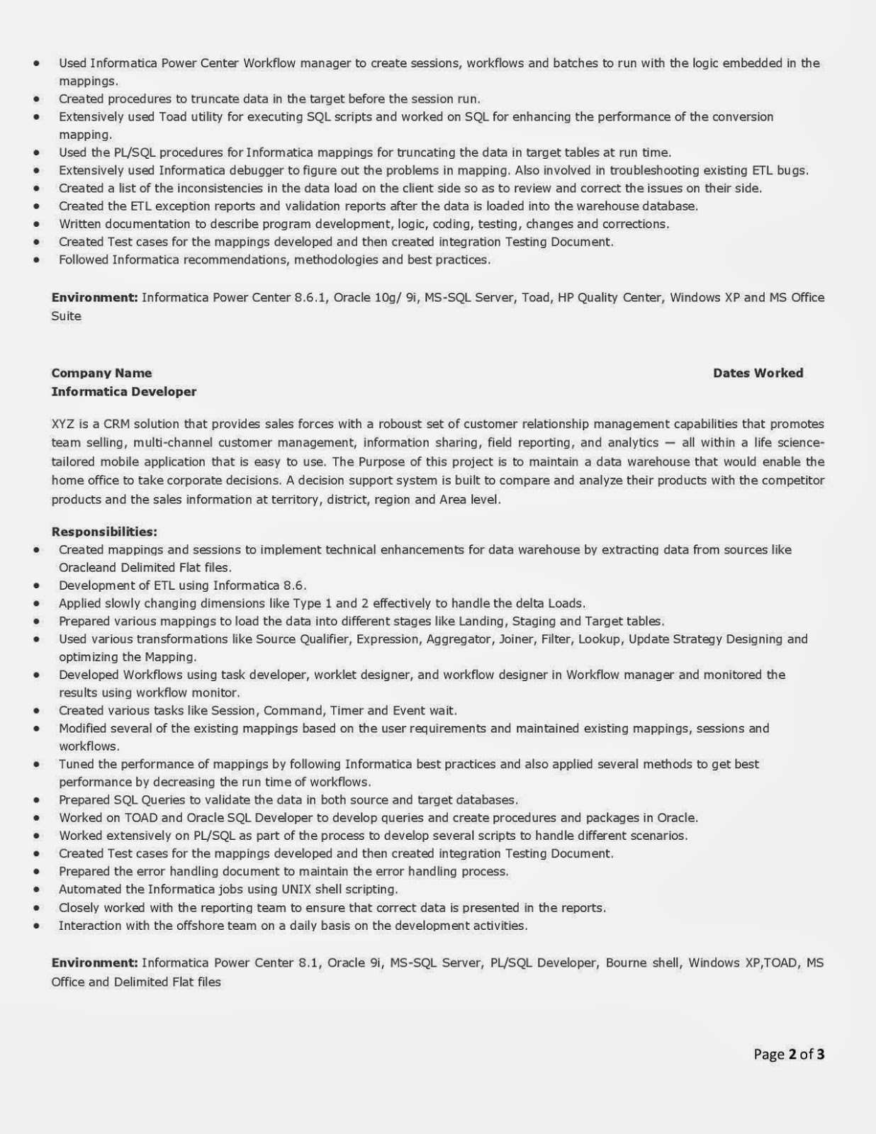 Sql Developer Resume Sample Ideal Resume Sql Server