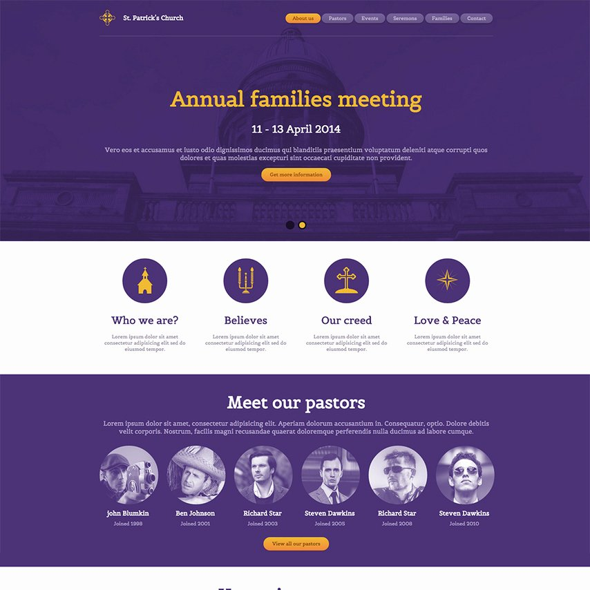 St Patrick S Church Free Responsive Website Template