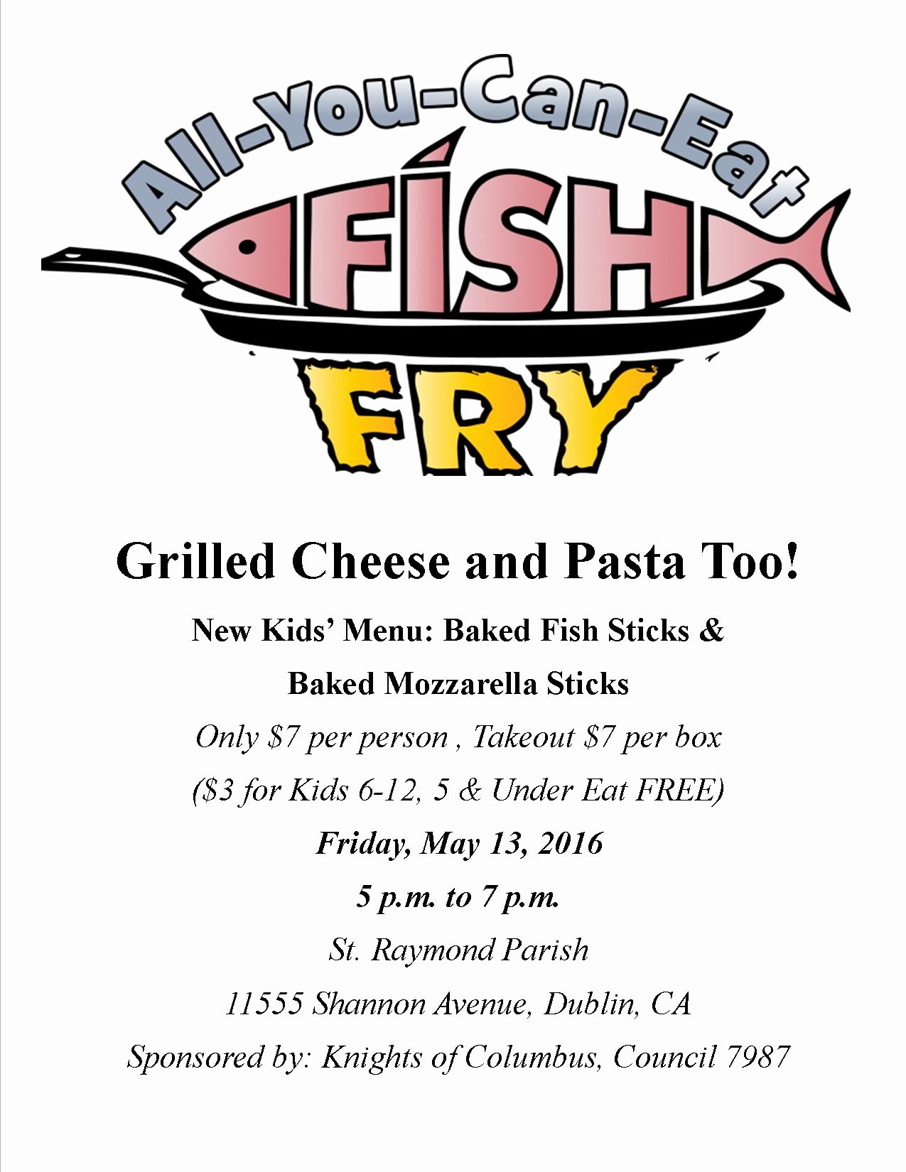 St Raymond Catholic Church – Next Fish Fry – May 13th 2016