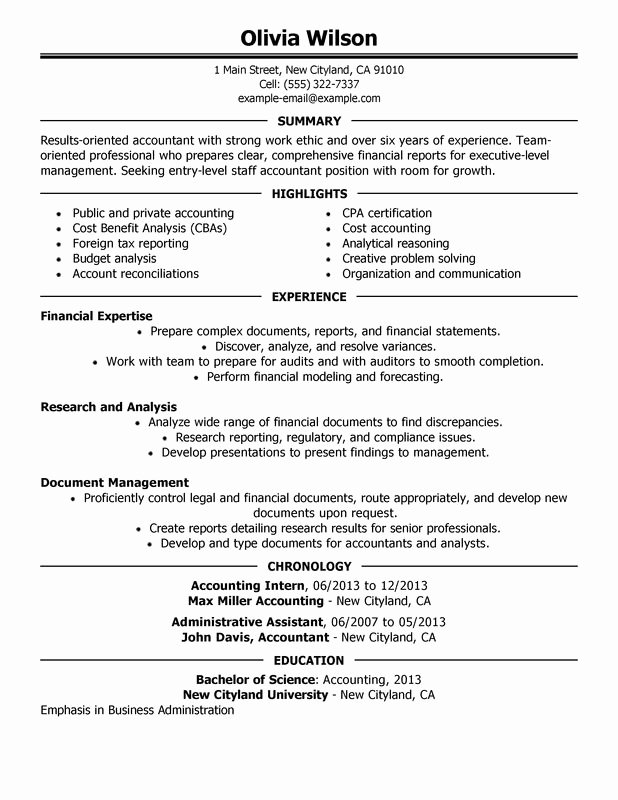 Staff Accountant Resume Examples – Free to Try today