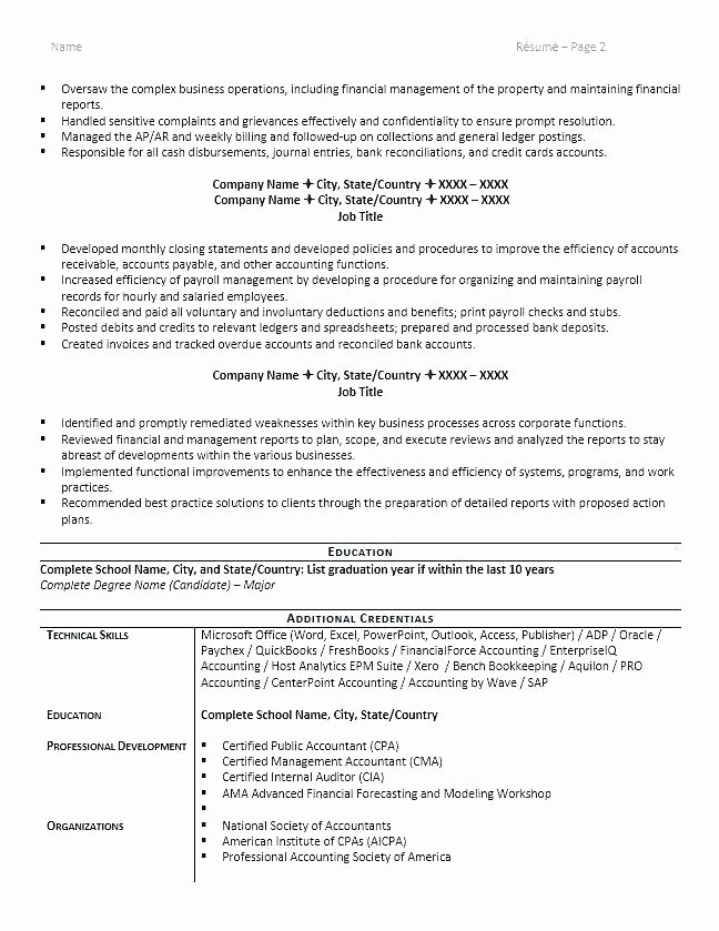 Staff Accountant Resumes Staff Accountant Resume Property