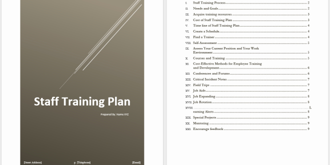 Staff Training Plan Template – Microsoft Word Templates