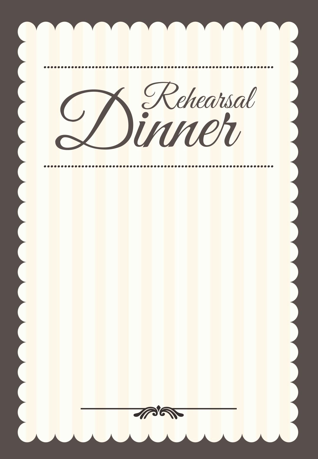 Stamped Rehearsal Dinner Free Printable Rehearsal Dinner