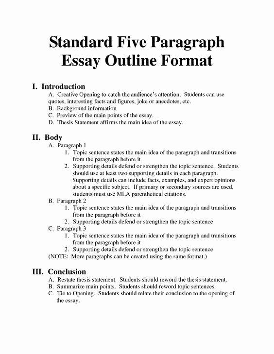 Standard Essay format Bing Writing