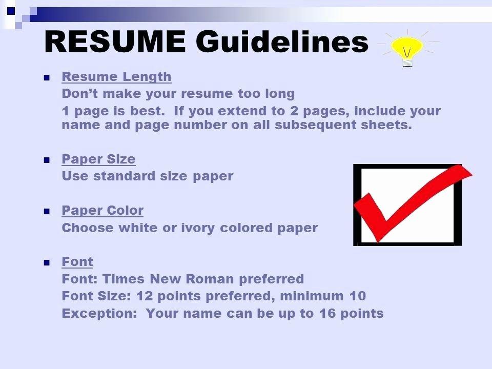 Standard Font for Resume – Breathelight