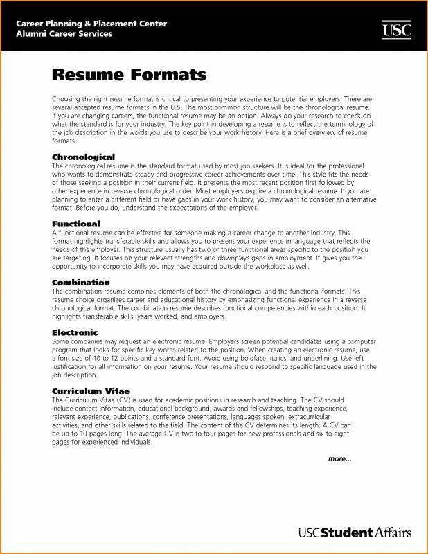 Standard Font Size for Resume