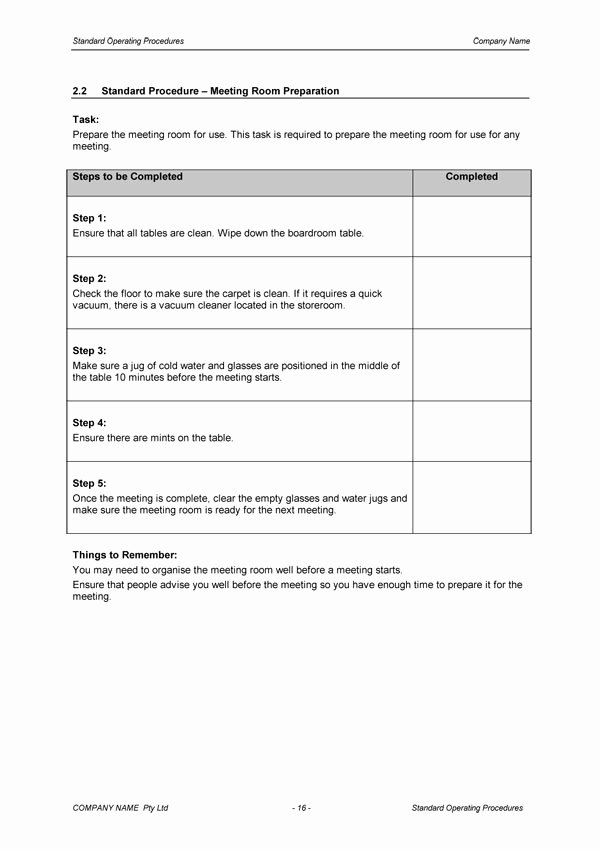 Standard Operating Procedure Template Download