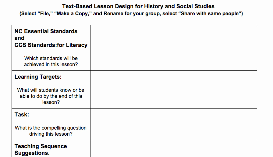 Standards Based Weekly Lesson Plan Template Lesson Plan