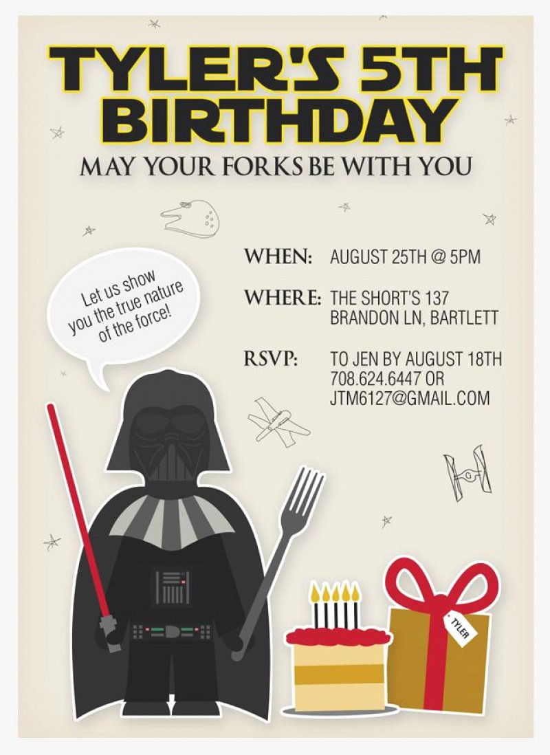 Star Wars Birthday Invitation Template Printable Free